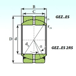 ISB GEZ 152 ES 2RS plain bearings