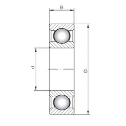 ISO 6006 deep groove ball bearings