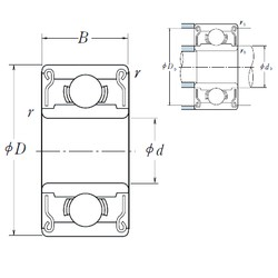 ISO 633ZZ deep groove ball bearings