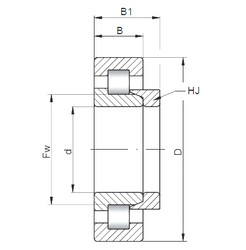 ISO NH1034 cylindrical roller bearings