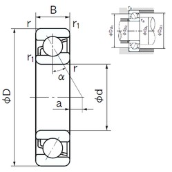 NACHI 7219 angular contact ball bearings