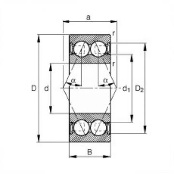 FAG 3002-B-2RSR-TVH angular contact ball bearings