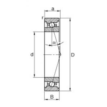 FAG HS71904-C-T-P4S angular contact ball bearings
