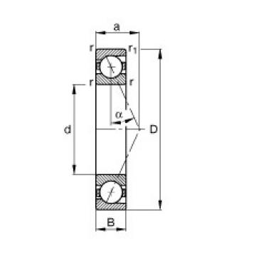 FAG B71906-E-T-P4S angular contact ball bearings