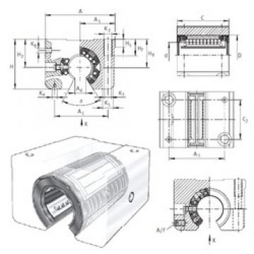 INA KGSNOS20-PP-AS linear bearings