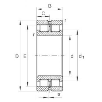INA SL024936 cylindrical roller bearings