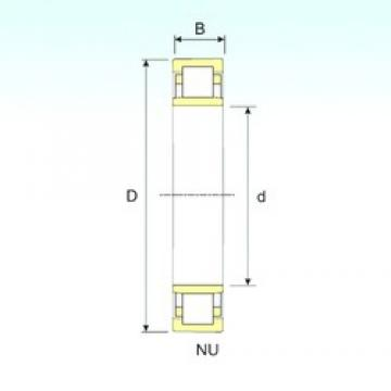 ISB NU 20/670 cylindrical roller bearings