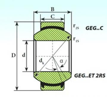ISB GEG 240 ET 2RS plain bearings