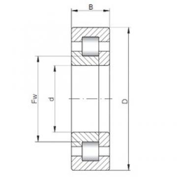 ISO NUP3228 cylindrical roller bearings