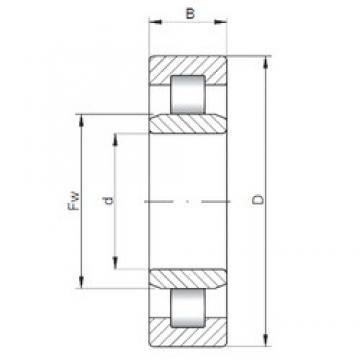 ISO NU211 cylindrical roller bearings