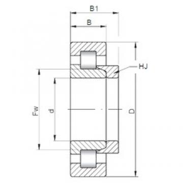 ISO NH2248 cylindrical roller bearings