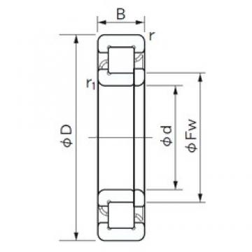 NACHI NUP 417 cylindrical roller bearings