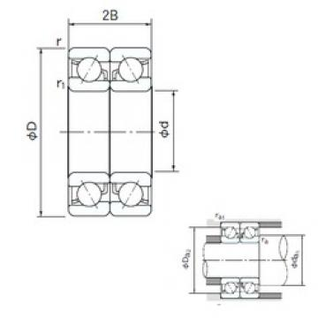 NACHI 7321CDB angular contact ball bearings
