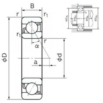 NACHI 7306 angular contact ball bearings