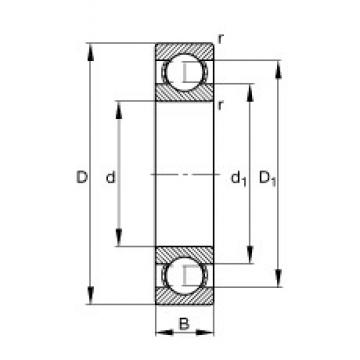 FAG 61903 deep groove ball bearings