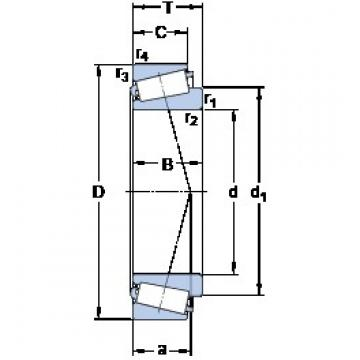 SKF T2ED 055/QCLN tapered roller bearings