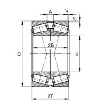FAG 32234-XL-DF-A350-410 tapered roller bearings